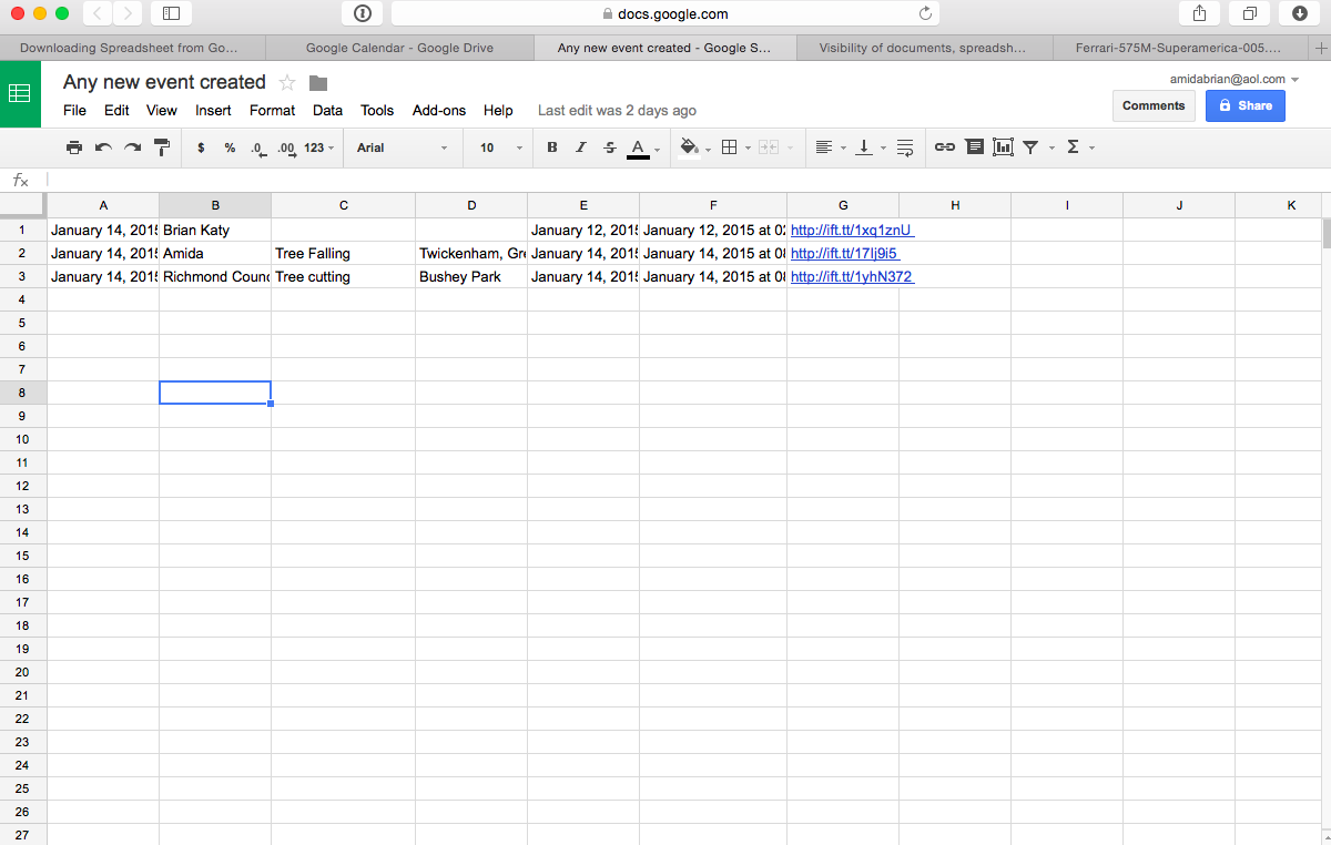 google spreadsheets download