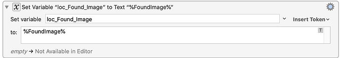 Trying to Set Variable to Token FoundImage