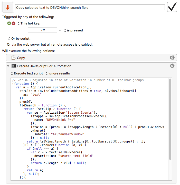 How can I create a macro to adjust the clicking position