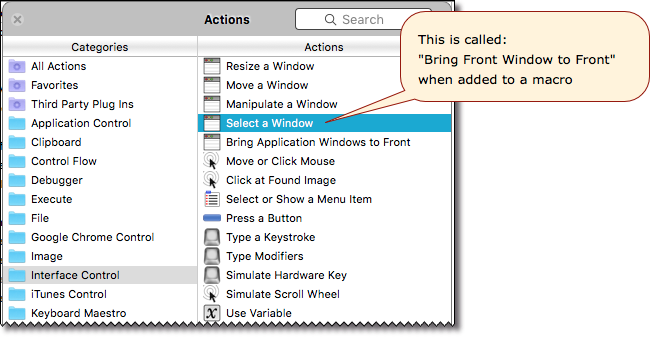 Bring one application window, with specific title, to front