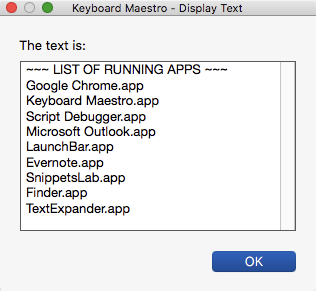 AppleScript for Running Apps - Questions & Suggestions - Keyboard