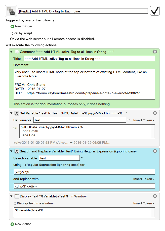 Regex add html div tag to each line macro library - Html div line ...