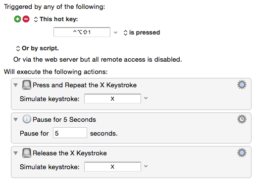 KM 7 0: Type a keystroke action and repeat, hold - Questions