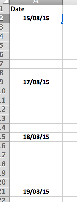 How Do I Copy Value in Excel Cell Down to Blank Cells