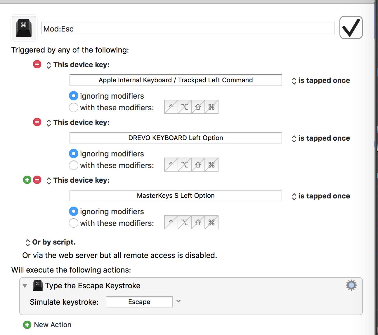 Problems: tap/tap twice modifier key(e g  cmd, opt, ctrl) action
