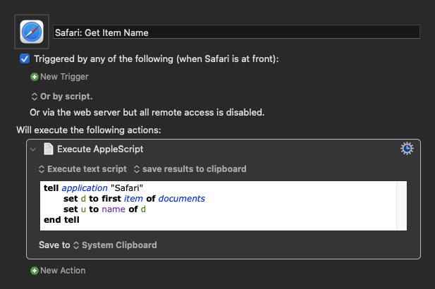 Safari: Get Item Name Macro (v9.2)