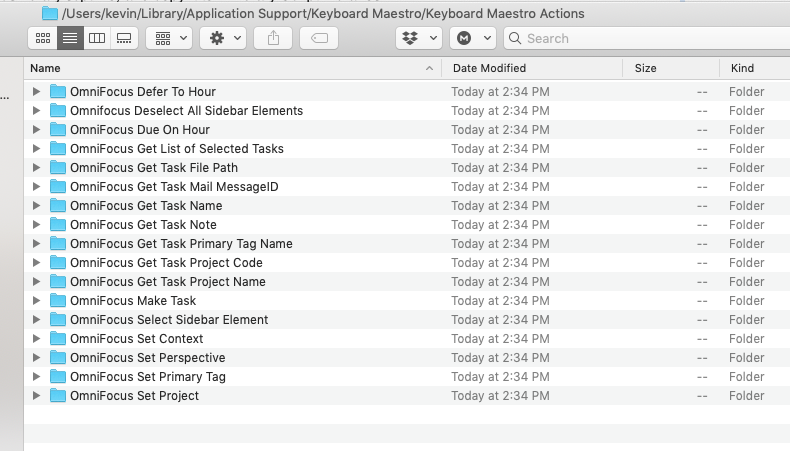 OmniFocus Actions Pack for Keyboard Maestro - Plug In