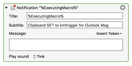 Outlook Message Links - Macro Library - Keyboard Maestro