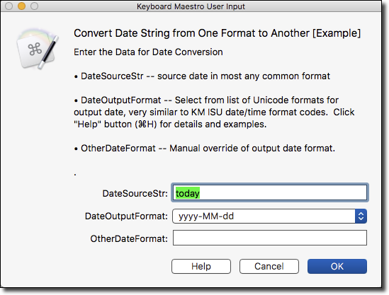 Convert Date String from One Format to Another [Example] - Macro