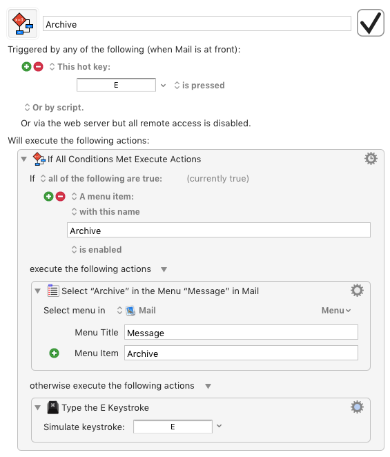 Build my own Gmail keyboard shortcuts in Mail app
