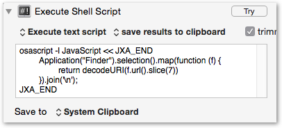 Copy Path of Finder Selection - Macro Library - Keyboard Maestro