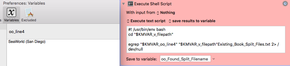 Bash Shell Script Needs a Variable Passed with Characters