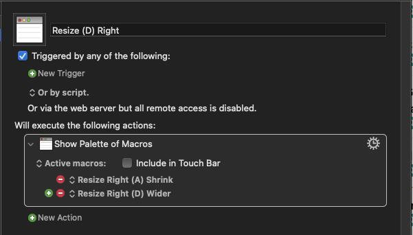 Screenshot of macro Resize (D) Right