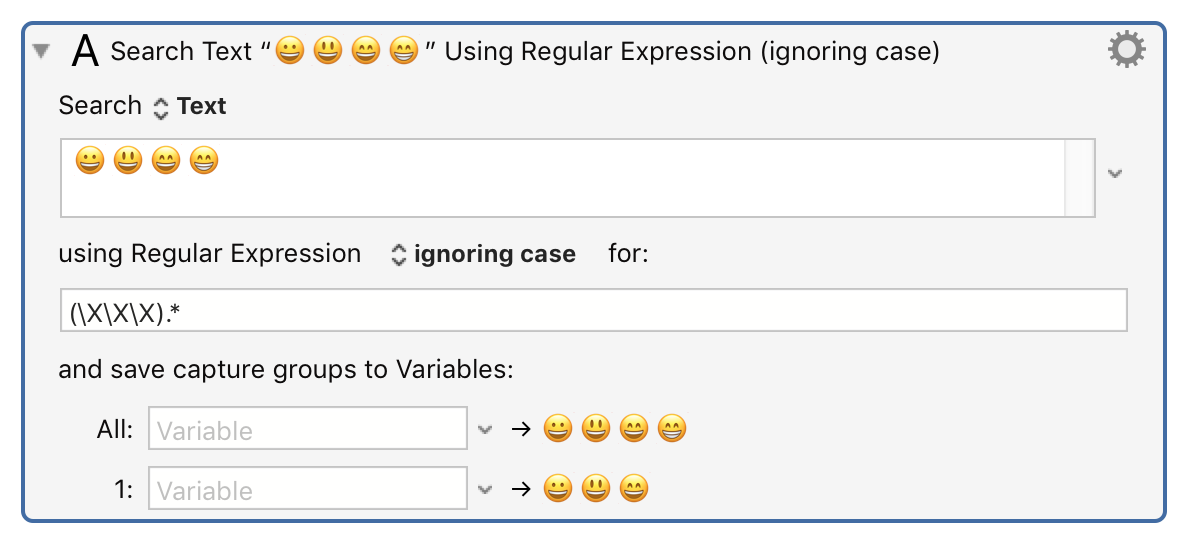 What Is The KM Regular Expression Equivalent To \X or [[:ascii